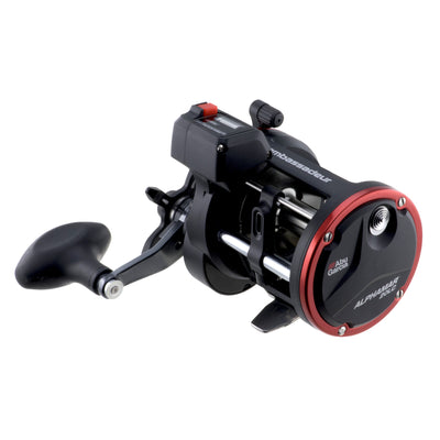 "Ambassadeur Alphamar LC Conventional Reel 20, 4.7:1 Gear Ratio, 2 Bearings, 29"" Retrieve Rate, 20 lb Max Drag, Right Hand"