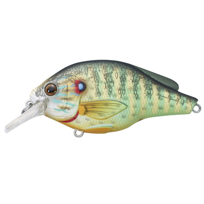 "Pumpkinseed Flat Side Squarebill 2 3/8"", Number 6 Hook Size, 3'-4' Depth, Natural/Matte"