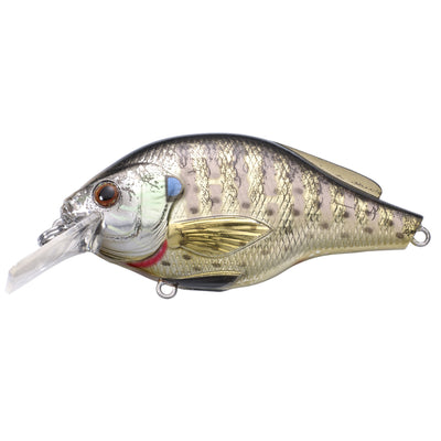"Bluegill Squarebill 2 3/8"", Number 6 Hook Size, 3'-4' Depth, Metallic/Gloss"