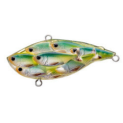 "Yearling Baitball Rattlebait 2 1/2"", Number 4 and 6 Hook Size, Variable, Depth, Blue/Chartreuse Shad"