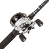 "Silver Max Baitcast Low Profile Combo 6.4:1 Gear Ratio. 6 Bearings, 6'6"" 1pc Rod, 8-15 lb Line Rate, Medium Power, RH"