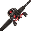 Black Max Baitcast Low Profile Combo 6.4:1 Gear Ratio. 5 Bearings, 7' 1pc Rod, 8-15 lb Line Rate, Fast Action, RH