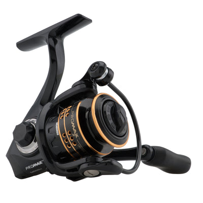 "Pro Max Spinning Reel 40, 5.1:1 Gear Ratio, 7 Bearings, 29"" Retrieve Rate, Ambidextrous"