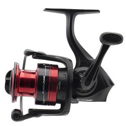"Black Max Spinning Reel 10, 5.2:1 Gear Ratio, 6 Bearings, 21"" Retrieve Rate, Ambidextrous, Clam Pack"