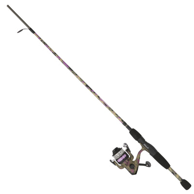 Lady Recurit Spinning Combo 30 Reel Size, 1 Bearing, 6' 2pc Rod, 6-12 lb Line Rate, Medium Power