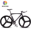 High Quality 26 Racing Flag Personality Bicicletas Black Mitoya Magnesium Alloy Fixie Bike Removable Aluminum Frame 700C KOLUSSI
