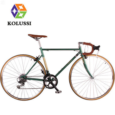 KOLUSSI New 700C Retro Bike Road 14-speed Bicicleta De Estrada 28 Inch High Carbon Steel Professional Bicycle Removable Bycicle