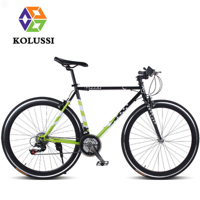 KOLUSSI Factory Direct 21-speed Flag Ladies Racing Road Bicycles Swallow Handlebar 700C Exercise Bike 2016 Carbon Steel Fahrrad
