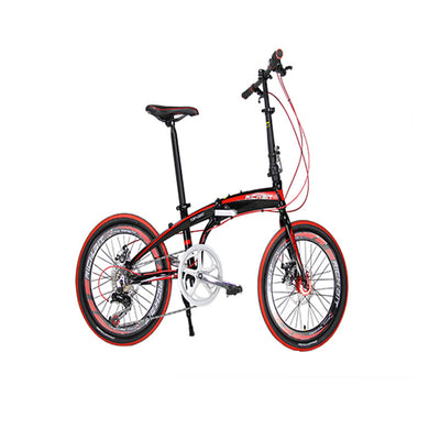 Cyrusher 20 in Mini Folding Bike Mini Bicycle Shiman0 7 Gears City Tour Bike for XMAS Presents Mountain Bike Road Bike Cycling