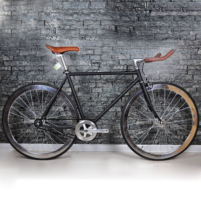 Road Bicycle newest Design Fixed Gear BikeDiy Complete Road Bike, Retro black  frame plating frameType 700C bike  52cm frame