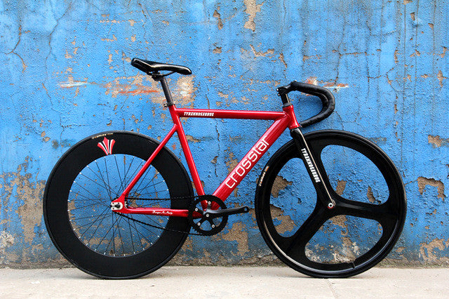 700C bike frame 53cm 55cm 58cm TYRANS T2  fixie Aluminum Alloy FRAME+Carbon Fiber FORK fixed gear bike fixie