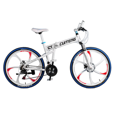 "New CT White Bike Bicicleta 26"" Mountain Bike Folding Bicycle Road Bicycle  24 Speeds Bicicletas Mans Mountain Bike Disc Break"