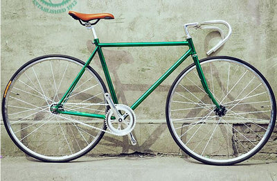 Road Bicycle 2016 newest Design Fixed Gear Bike Promotion Diy Complete Road Bike, student Bicycle green frameType 700C 52CM