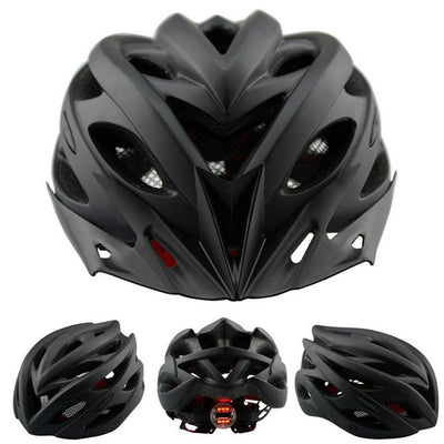 New Matte Black Bicycle Helmets Men Women Safety Helmet Back Light Mountain Road Bike Integrally Molded Cycling Helmets K1040