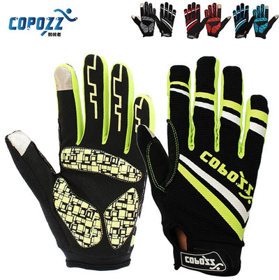 Copozz Brand New GEL Full Finger Men Cycling Gloves mtb bike gloves/bicycle ciclismo racing sport breathable thick shockproof