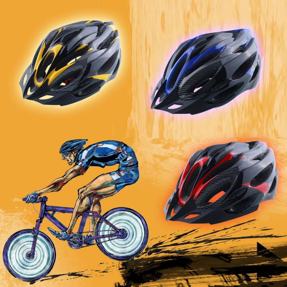 Cycling Helmet Adjustable Bicycle Bike Mountain Unisex Shockproof ultralight with Visor Red/Yellow/Blue