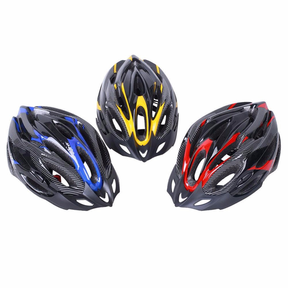 Cycling Helmet Adjustable Bicycle Bike Road Mountain Safety Shockproof ultralight with Visor Red/Yellow/Blue