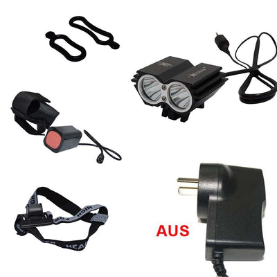 Waterproof LED Bike Light + Battery Pack + Charger bike accessories Bicycle light Cycling Lamp Headlight