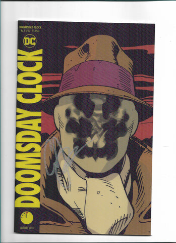 22/11/2017 DOOMSDAY CLOCK #1 (OF 12) LENTICULAR VARIANT SIGNED BY GEOFF JOHNS