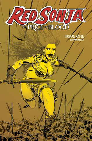 RED SONJA PRICE OF BLOOD #1 1:21 GOLDEN GOLD TINT VARIANT