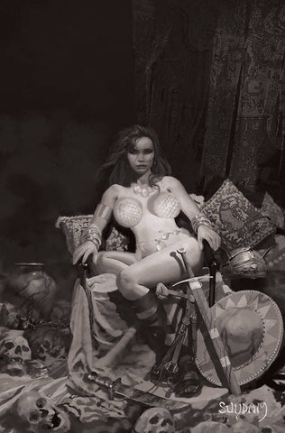 RED SONJA PRICE OF BLOOD #1 1:35 SUYDAM BW VIRGIN VARIANT