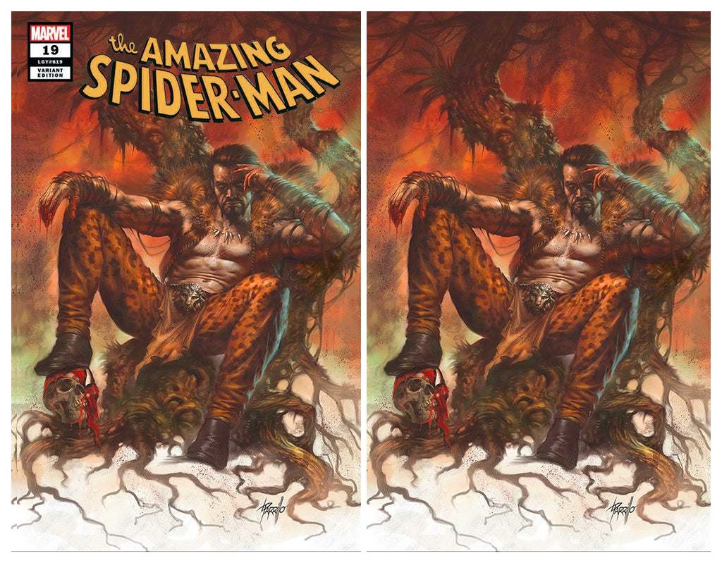 AMAZING SPIDER-MAN #19 LUCIO PARRILLO KRAVEN TRADE DRESS/VIRGIN VARIANT SET