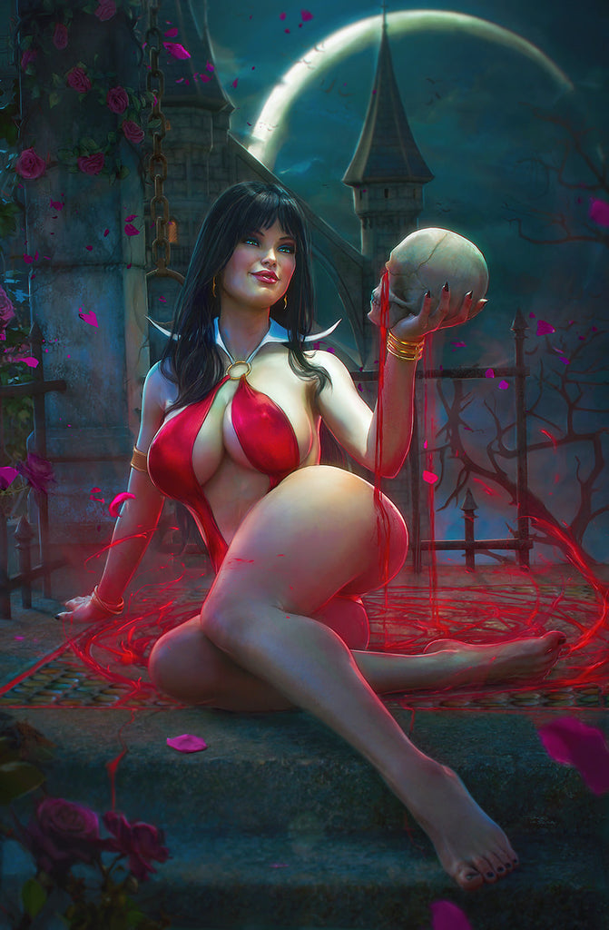 VAMPIRELLA #17 TIAGO DA SILVA VIRGIN VARIANT LIMITED TO 500