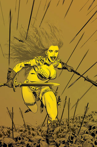 RED SONJA PRICE OF BLOOD #1 1:40 GOLDEN GOLD TINT VIRGIN VARIANT