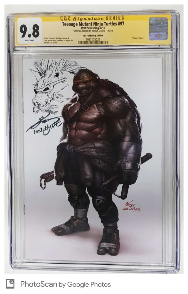 TMNT ONGOING #97 INHYUK LEE VIRGIN VARIANT LIMITED TO 500 CGC 9.8 BEBOP REMARK