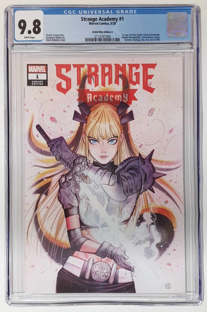 STRANGE ACADEMY #1 PEACH MOMOKO TRADE DRESS VARIANT LIMITED TO 3000 CGC 9.8