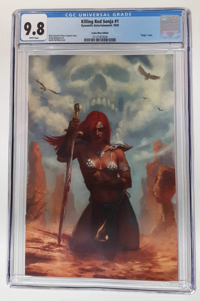 KILLING RED SONJA #1 AARON BARTLING VIRGIN VARIANT LIMITED TO 500 CGC 9.8