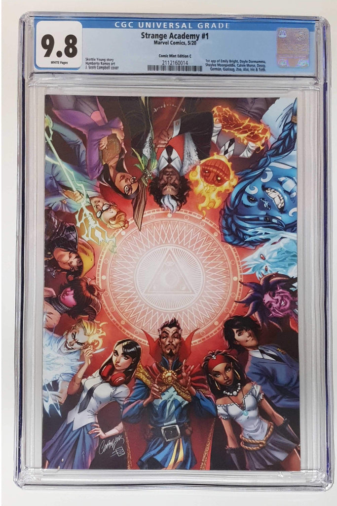 STRANGE ACADEMY #1 J SCOTT CAMPBELL VIRGIN VARIANT LIMITED TO 3000 CGC 9.8