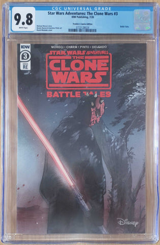 STAR WARS ADVENTURES CLONE WARS #3 PEACH MOMOKO TRADE DRESS LIMITED TO 1000 CGC 9.8