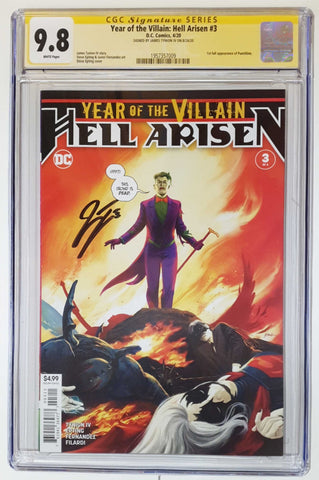 YEAR OF THE VILLAIN HELL ARISEN #3 1ST PRINT CGC SS 9.8 SIGNED BY JAMES TYNION IV