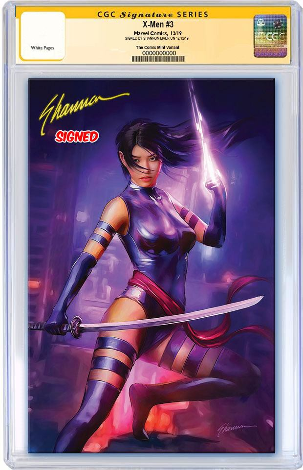 X-MEN #3 DX SHANNON MAER PSYLOCKE VIRGIN VARIANT LIMITED TO 600 WITH NUMBERED COA CGC SS PREORDER