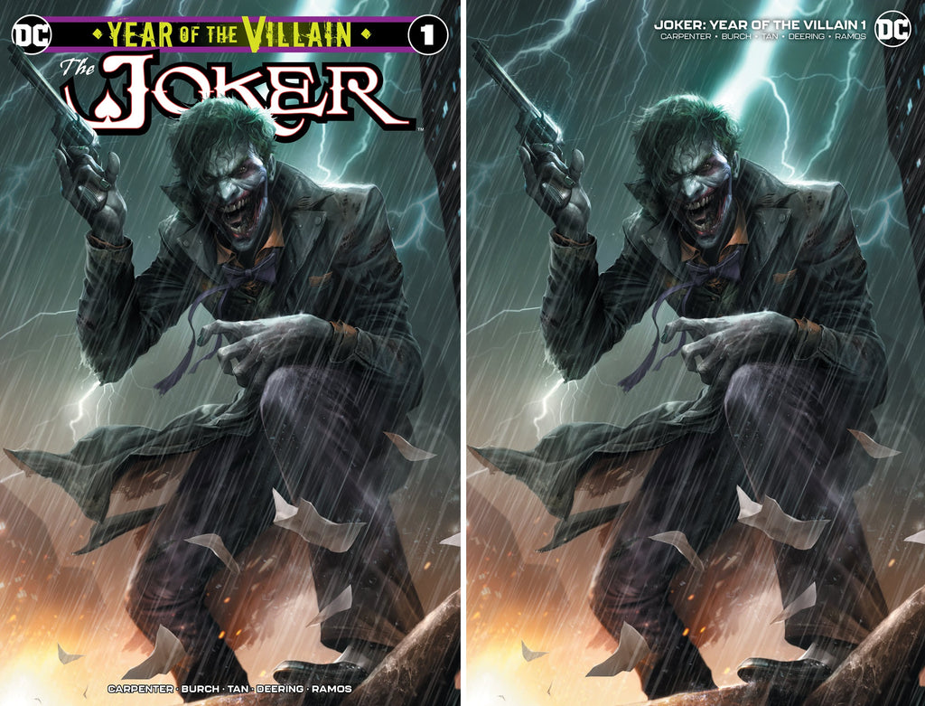JOKER YEAR OF THE VILLAIN #1 FRANCESCO MATTINA TRADE DRESS/MINIMAL TRADE VARIANT SET LIMITED TO 1000 SETS