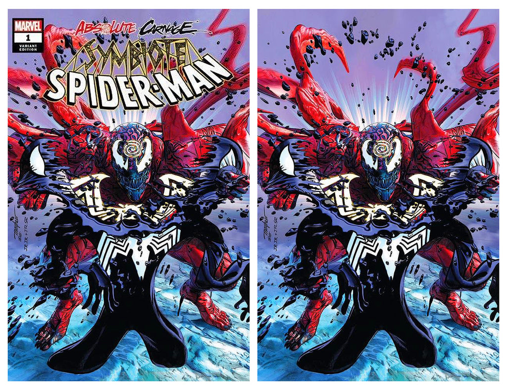 ABSOLUTE CARNAGE SYMBIOTE SPIDER-MAN #1 MIKE MAYHEW ASM #238 HOMAGE TRADE DRESS/VIRGIN VARIANT SET LIMITED TO 600 SETS WITH NUMBERED COA