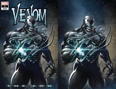 VENOM THE END #1 CLAYTON CRAIN TRADE/VIRGIN VARIANT SET LIMITED TO 600 SETS WITH NUMBERED COA