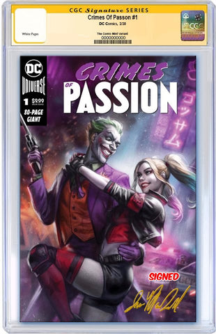 CRIMES OF PASSION #1 IAN MACDONALD HARLEY & JOKER VARIANT LIMITED TO 2500 CGC SS PRORDER