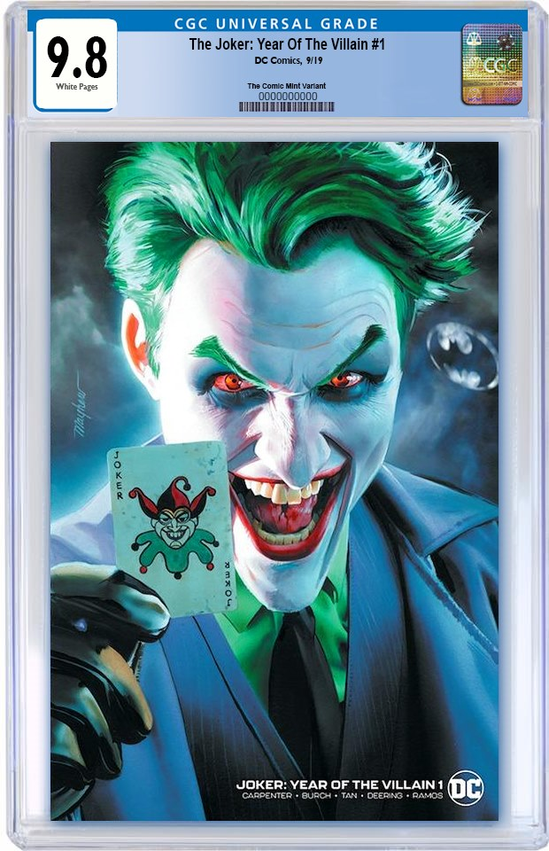 JOKER YEAR OF THE VILLAIN #1 MIKE MAYHEW BAT SIGNAL MINIMAL TRADE VARIANT LIMITED TO 1000 CGC 9.8 PREORDER
