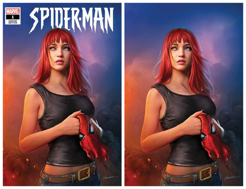 SPIDER-MAN #1 (OF 5) SHANNON MAER TRADE DRESS/VIRGIN VARIANT SET LIMITED TO 600 SETS WITH NUMBERED COA