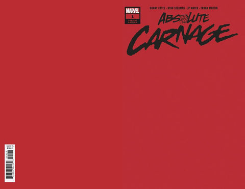 07/08/2019 ABSOLUTE CARNAGE #1 1:200 RED VARIANT