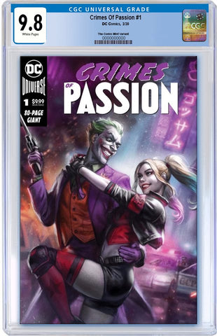 CRIMES OF PASSION #1 IAN MACDONALD HARLEY & JOKER VARIANT LIMITED TO 2500 CGC 9.8 PRORDER