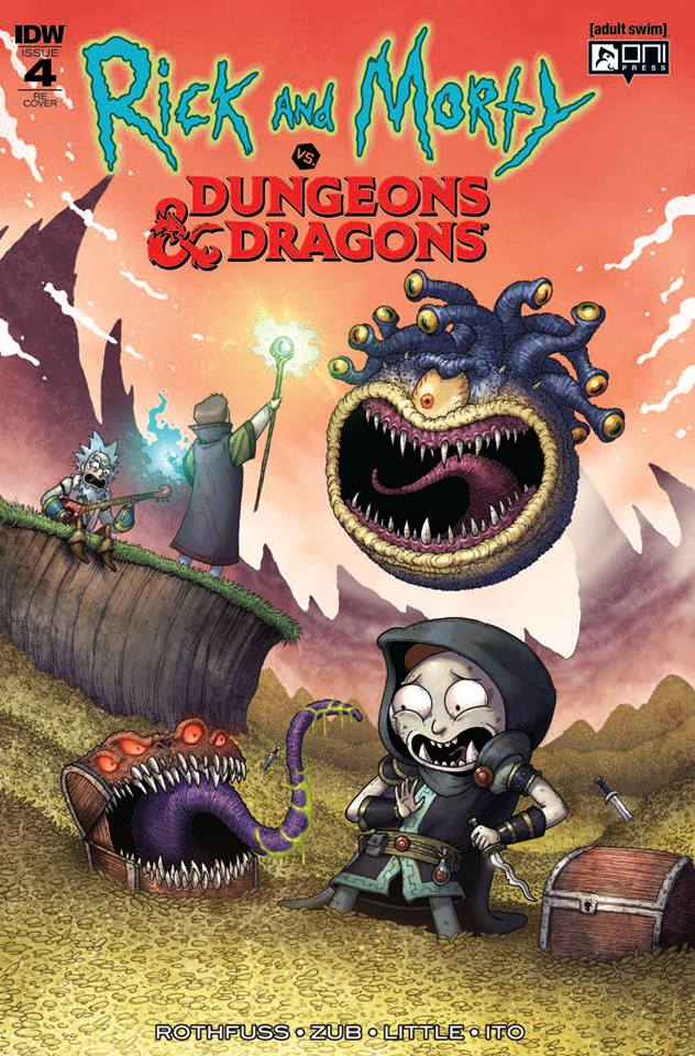 RICK & MORTY VS DUNGEONS & DRAGONS #4 (OF 4) MIKE VASQUEZ VARIANT LIMITED TO 500