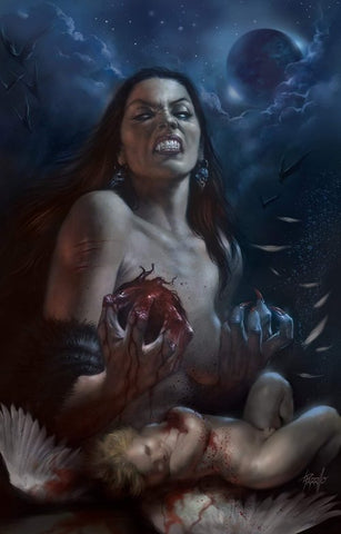 VAMPIRELLA VALENTINES DAY SPECIAL #1 LUCIO PARRILLO BLUE VARIANT LIMITED TO 250