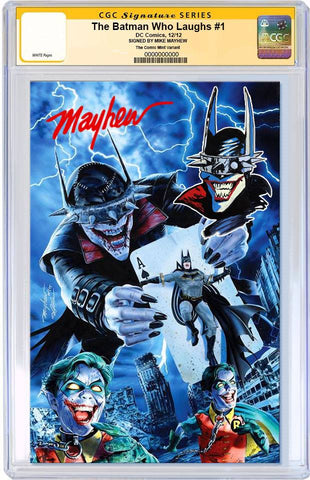 BATMAN WHO LAUGHS #1 MIKE MAYHEW MODERN VIRGIN VARIANT LIMITED TO 700 CGC REMARK PREORDER