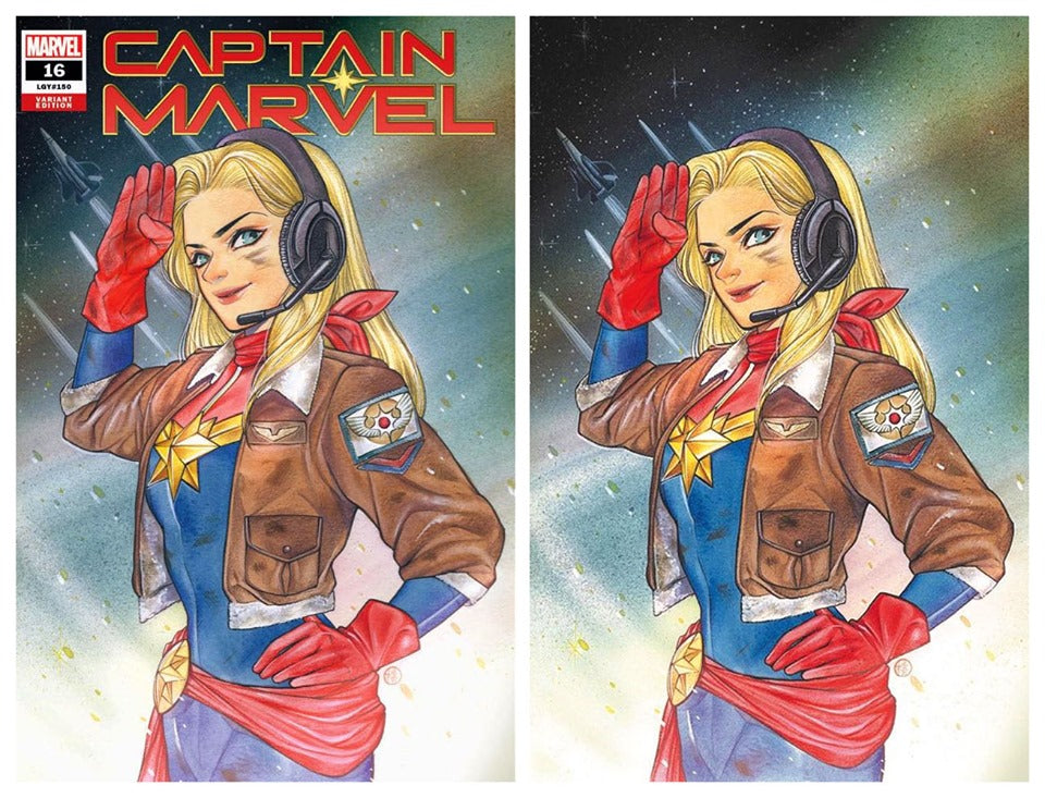CAPTAIN MARVEL #16 PEACH MOMOKO THANK YOU VARIANT