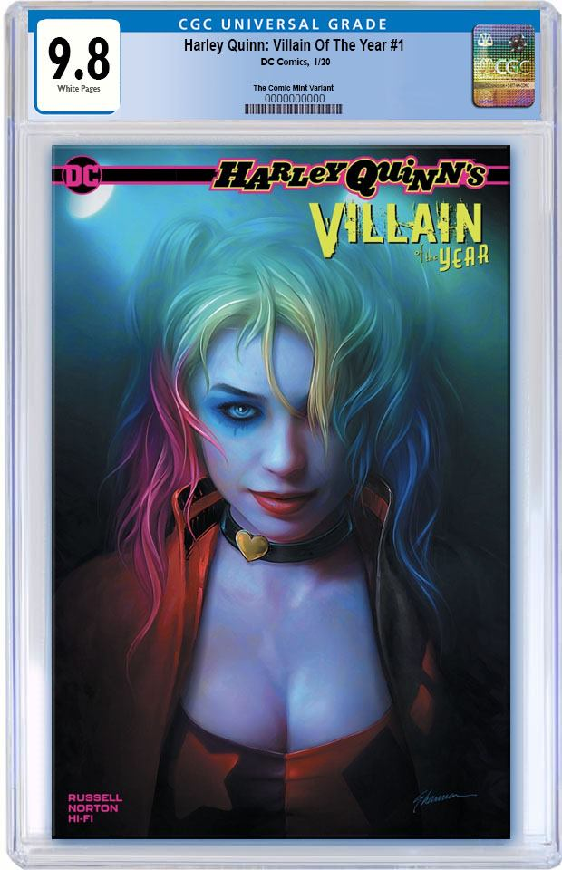 HARLEY QUINN VILLAIN OF THE YEAR #1 SHANNON MAER CUSTOMER APPRECIATION TRADE DRESS VARIANT LIMITED TO 3000 CGC 9.8