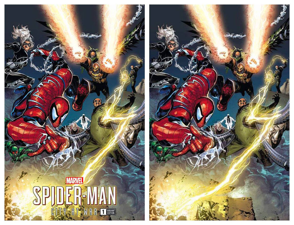MARVELS SPIDER-MAN CITY AT WAR #1 PHILIP TAN TRADE DRESS/VIRGIN VARIANT SET LIMITED TO 500 SETS