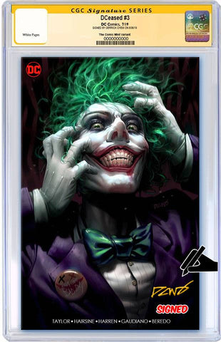 DCEASED #3 DERRICK CHEW MINIMAL TRADE DRESS VARIANT LIMITED TO 1000 CGC SS PREORDER